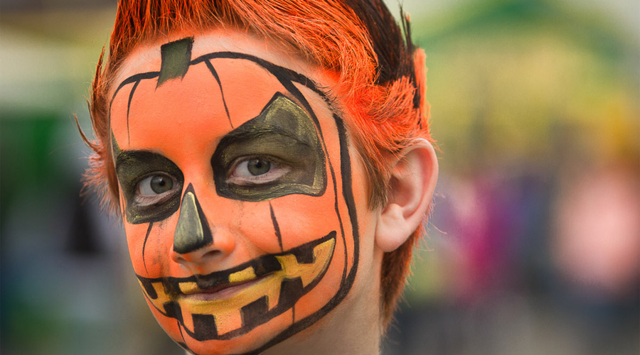 Pumpkins face paint for children and adults